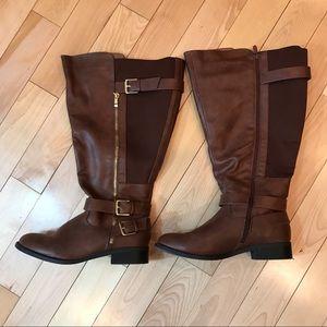 Torrid Brown Tall Boots 9.5W Wide Calf Like New